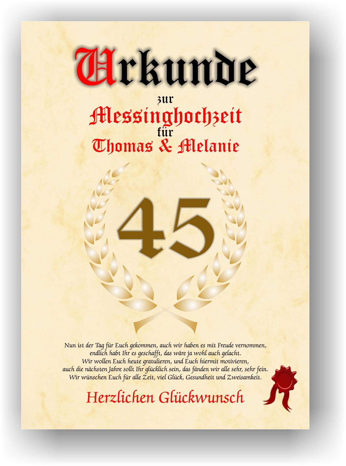 45 Hochzeitstag Spruche Lustig