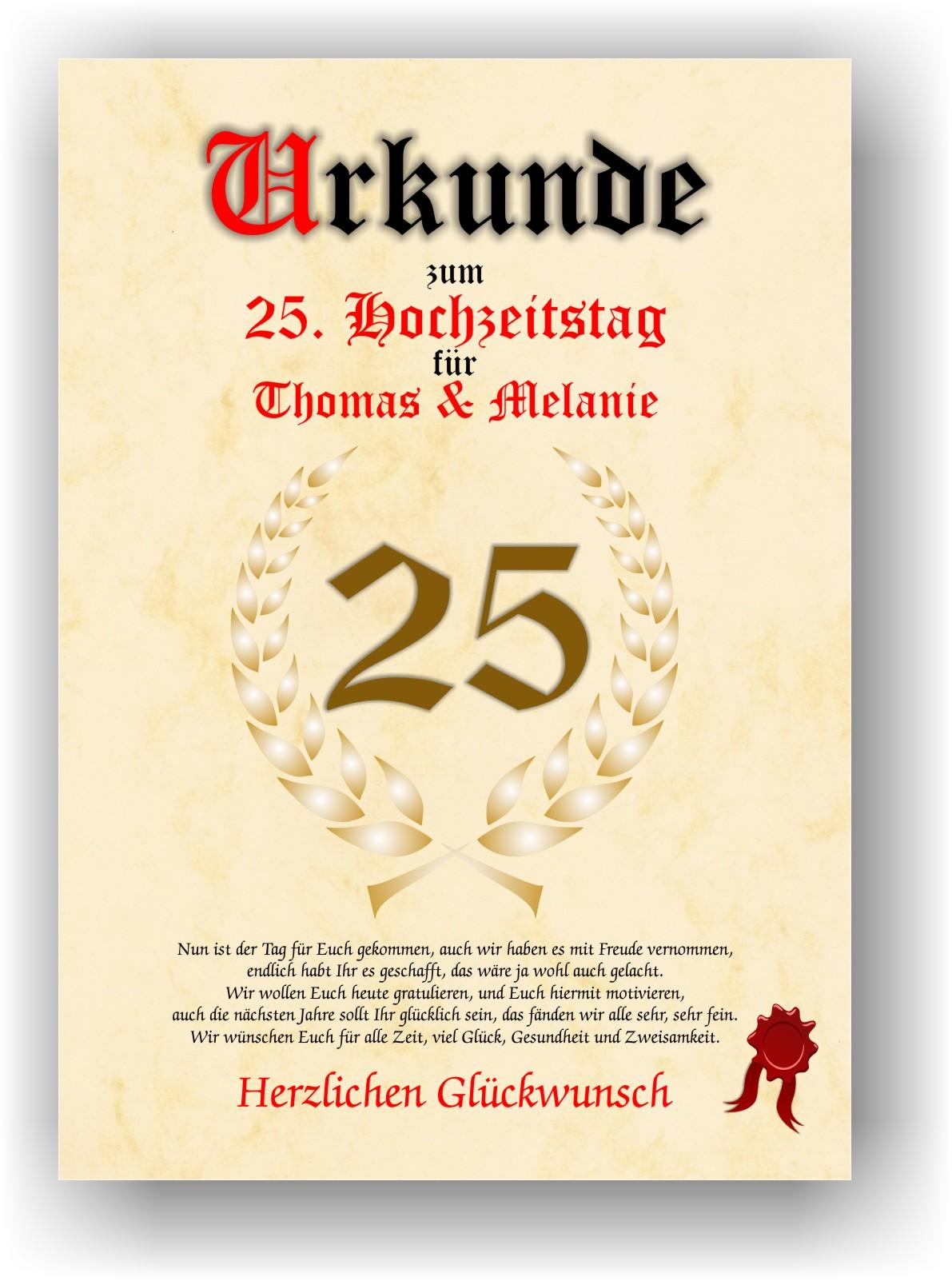 Geschenke zum 25 jubilaum