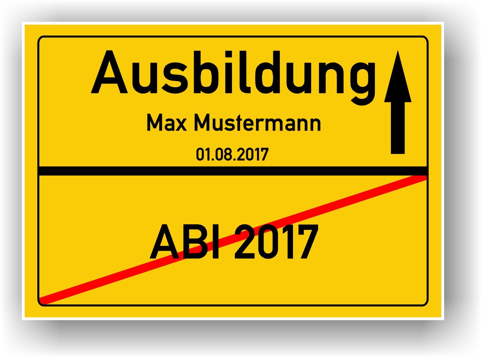 Ortsschild Bild ABI Abitur Geschenk Prüfung Abi Geschenkidee ...